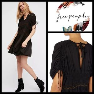 Free People Rainbow Embroidered Mini Dress NEW
